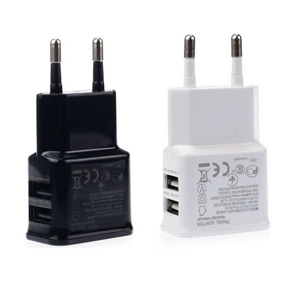 New Universal Dubbel USB EU plug 5V 2A Wall Travel Ström laddare adapter för iPhone5 iPhone6 6S plus HTC SAMSUNG Galaxy S6